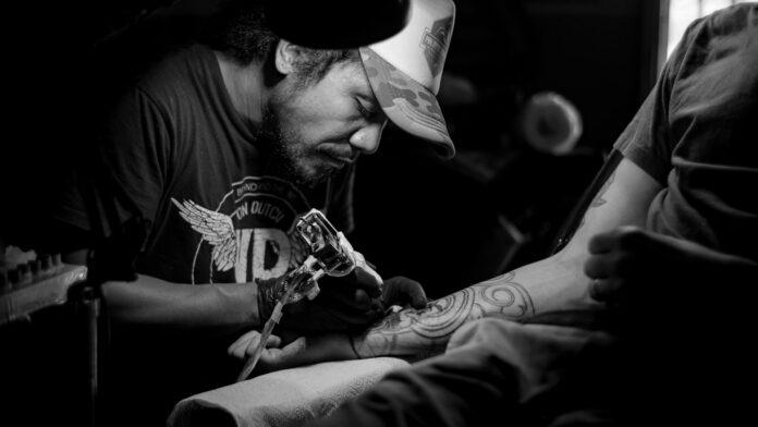 tattooed skin